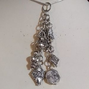Two strand charm necklace